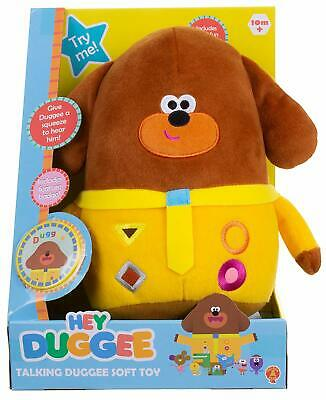 Hey Duggee Talking Interactive Soft Huggable Fun Baby Toy + Collectable Badge