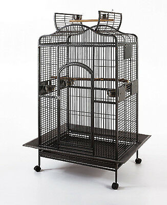 "Extra Large Parrot Open PlayTop Macaw Amazon 32""X23""X62""H Wrought Iron Cage 584"