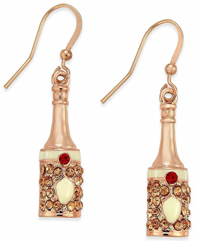 Macy Holiday Arcade Champagne Bottle Earrings