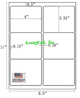 600 Shipping Address   Amazon Fba Labels   6 Per Sheet 10Up 4 X3 33  100 Sheets