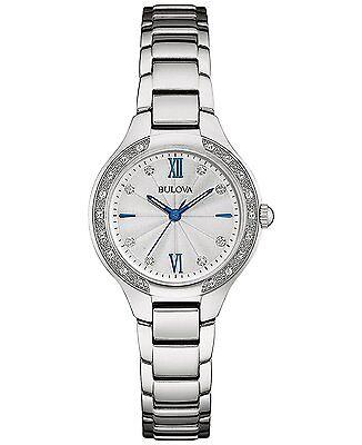 Bulova Women's 96R208 Diamond Accents Quartz Silver Tone 28mm Bracelet Watch