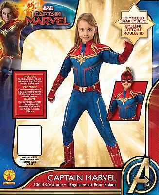 Hero Costumes Kids (Child size Female Captain Marvel Deluxe Super Hero Costume - Officially)