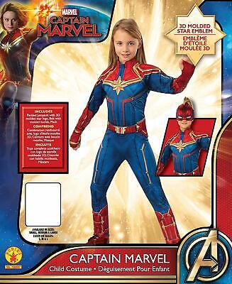 Child size Female Captain Marvel Deluxe Super Hero Costume - Officially Licensed](Official Superhero Costumes)