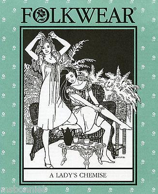 Folkwear Lady's Chemise, Nightgown or Summer Dress XS-3XL Sewing Pattern # 223