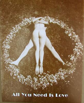 1960s Peace Sign (1960's Peace Sign Sepia Poster All You Need is Love Peace 11 x 14 Poster)