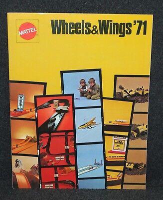 Mattel 1971 Toy Fair Dealer Catalog Wheels & Wings Hot Wheels
