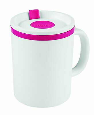 Copco Iconic Plastic Double Wall Insulated Desk Mug with Lid16 Ounce -