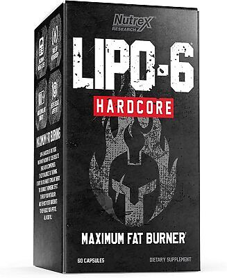 Nutrex Lipo 6 Hardcore Ultra Concentrate 60 Cap MAXIIMUM FAT BURNER