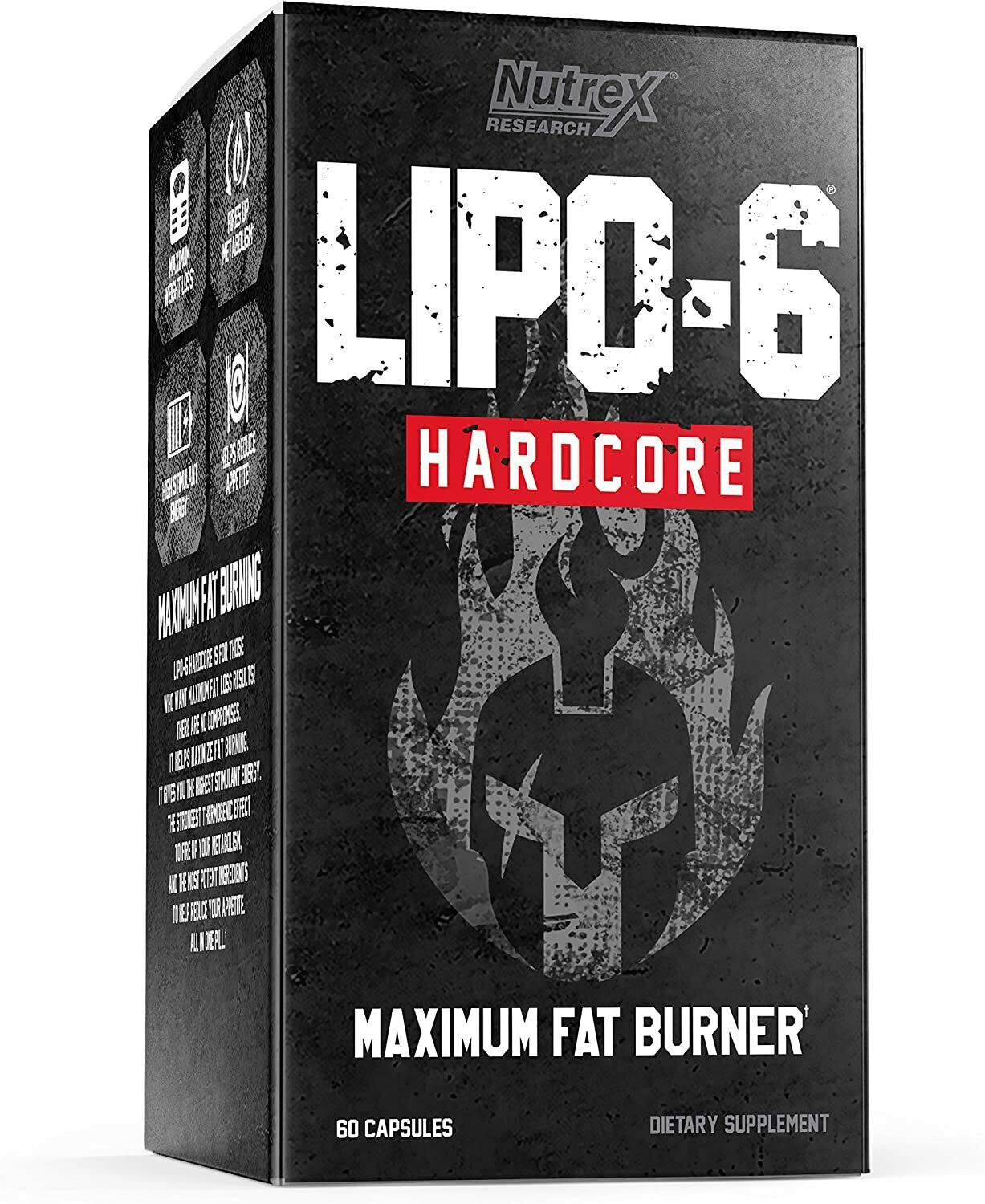 Nutrex Research Lipo 6 Black Hers Ultraconcentrate 60 Caps.