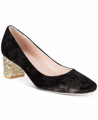 Kate Spade New York Womens Closed Toe Classic Pumps, Black/Gold, Size 8.5 rP5J U