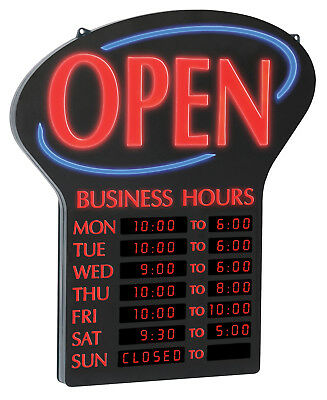 Newon Led Open With Digital Programmable Business Hours Flashing Effects 6093