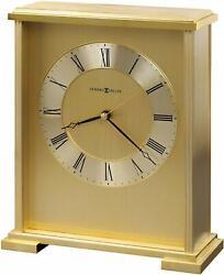 Howard Miller Exton Table Clock 645-569 – Brass Finish with Quartz Movement