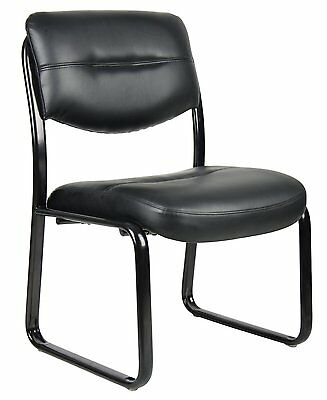 "Boss Office Products Leather Sled Base Side Chair  20.5""W X 20""D B9539 New"