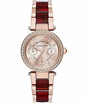Michael Kors MK6239 'Mini Parker' Multi-Function Stainless Steel Women's Watch