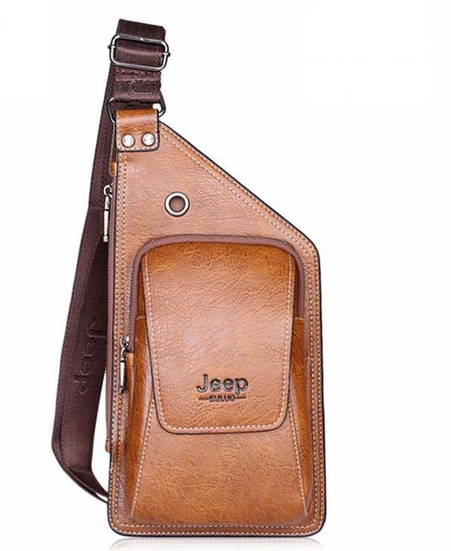 Borsello Uomo Tracolla Jeep Yueke Pelle 2017 Men Bag Messenger Shoulder  Strap 5f15671be6c