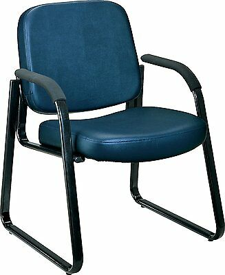 Ofm Vinyl Guest Reception Chair With Arms Navy