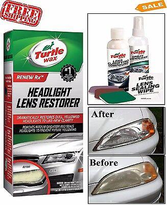 Headlight Lens Cleaner Turtle Wax Headlamp Restoration Kit Repair Car Polisher