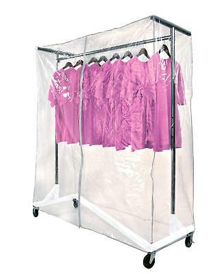 Only Hangers Commercial Z-rack White Base Includes Cover Supports Clear Cover