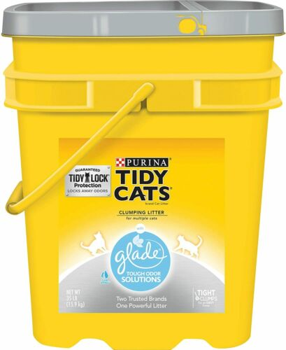 Purina Tidy Cats Glade Clear Springs Clumping Cat Litter Multi Cats , 35-lb Pail