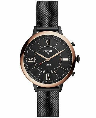 Fossil Q Women's JACQUELINE Hybrid Bluetooth ROSE GOLD BLACK Smart Watch FTW5030