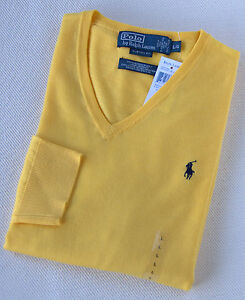 New Polo Ralph Lauren Pony Merino Wool V Neck Sweater