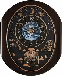 Rhythm Clocks Velvet Cosmos Magic Motion Clock (4MH428WU06)