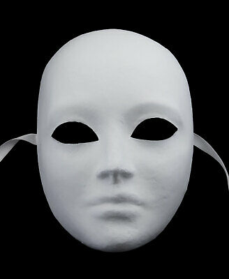 Mask from Venice Face Volto Face in Paper Mache Unisex Handmade 2254 V4