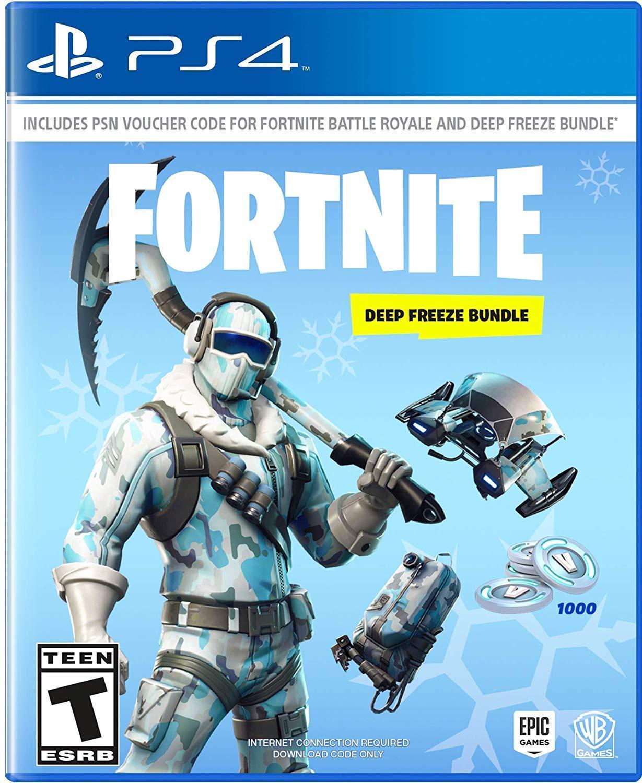 Details about Fortnite Deep Freeze Bundle Sony PlayStation 4 PS4 Frostbite  Outfit 1000 V-Bucks