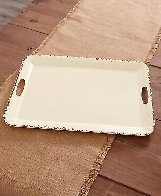 Farmhouse Solid Melamine Country Dinnerware - Cream Serving Tray