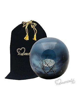 Midnight Moon Sphere of Life Cremation Urn for Human Ashes
