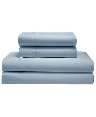 600 Tc Queen Sheets - Queen Silky Soft Cotton Sateen Sheets & Pillowcase Set 600 TC- Solid Light Blue