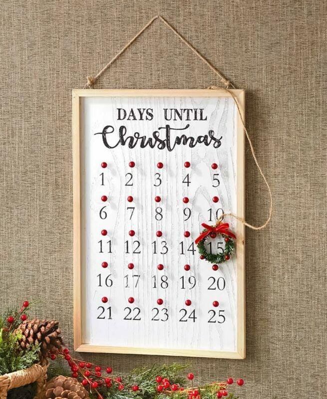 Christmas Wreath Countdown Calendar Holiday Home Decor