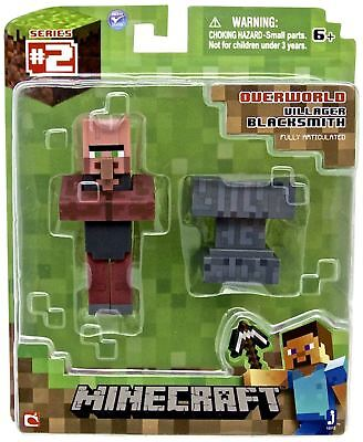 "Official Minecraft 3 Inch 3"" Villager Blacksmith Action Figure Jazwares"