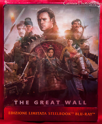 The Great Wall Lenticular Edition Steelbook Blu Ray New