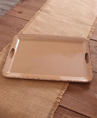Farmhouse Solid Melamine Country Dinnerware - Mocha Brown Serving Tray