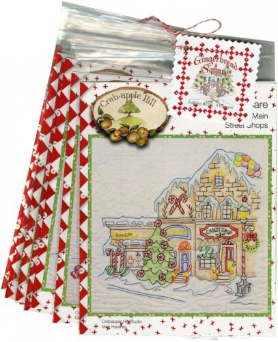 GINGERBREAD SQUARE EMBROIDERY PATTERN -CAH Block #1 Peppermint Arch House