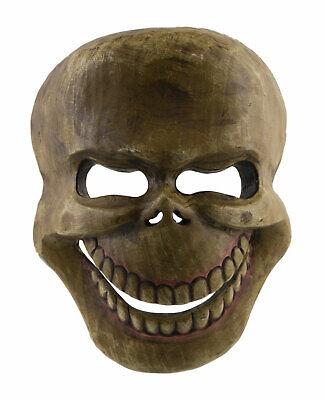 Mask Citipati Tête de Death 22 cm Wooden Painted - Himalaya-Nepal Tibet 9948 B7
