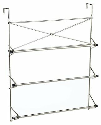 شماعة حمام جديد Over The Door Towel Holder Rack Organizer Bathroom Bath Bars Hanger Dryer .