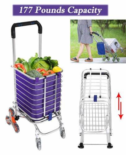 8Wheel Folding Utility Cart Upgrade Handle Grocery Shopping Bag Collapsible Spot