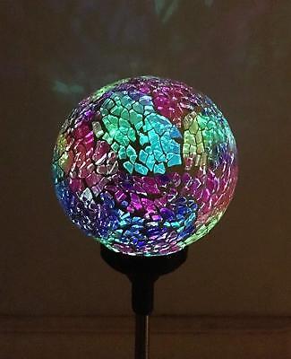 Mosaic Crackle Colorful Ball Solar Lights ,Multi-color Color Changing LED - Solar Crackle Ball