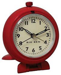 Westclox Big Ben 47383 1939 Reproduction Travel Red Alarm Clock