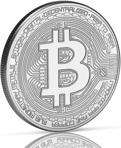 Physical Silver Bitcoin Coin Collector Gift Coin Art Collection Gold Copper