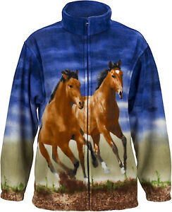 Trail-Crest-ACTIVE-FLEECE-Animal-Print-Jacket-WOLF-BEAR-HORSE-ELK-DEER