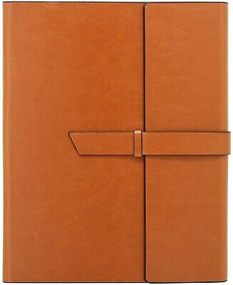 Gallaway Leather Padfolio Portfolio Folder - Fits Letter Legal A4 Notebooks