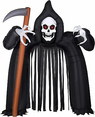 Gemmy 9.5' Airblown Archway Reaper W/Red Eyes For Indoor or Outdoor Self-inflate