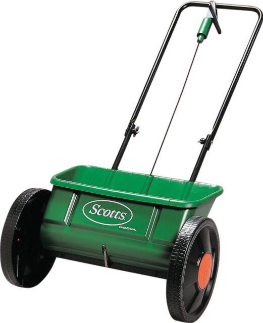 EverGreen Scotts Drop Spreader Garden Lawn Seed Outdoor Fertilizer Spreader 45cm