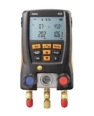 Testo 549 Refrigeration Digital Manifold Hvac Gauge System