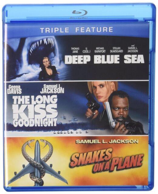 DEEP BLUE SEA The LONG KISS GOODNIGHT SNAKES ON A PLANE BLU RAY SAMUEL L JACKSON