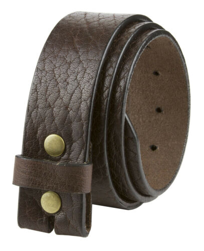 """Full Grain One Piece Natural Grain Leather Belt Strap Usa-made 1 1/2"""" Wide Brown"""