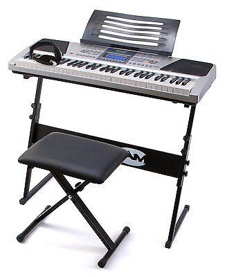 Electric Keyboard Piano Digital Keys 61 Electronic Music Display Key Stand Stool